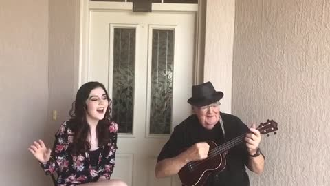 Teenage Girl Joins Elderly Grandpa For An Emotional Duet