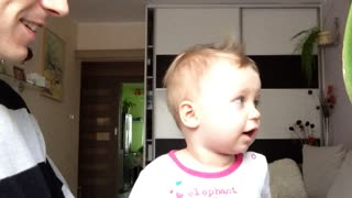 Adorable Baby ROARING Like a LION !!! - Video