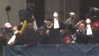 Patriots bring home the Lombardi Trophy - Video