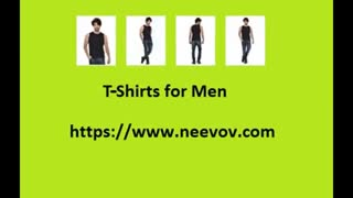 Sleeve Less Black Colour T Shirts for Men - Video