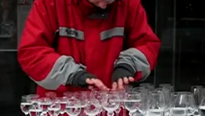 Mesmerizing glass harp street performance - Video