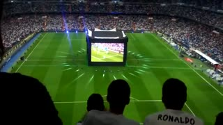 Real Madrid fans react during Champions League final