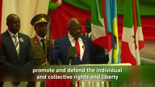 Burundi's Nkurunziza sworn-in to controversial third term in office - Video