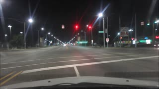 DETROIT STREETS AFTER MIDNIGHT