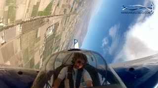 Aerobatic pilot reveals spinning view from cockpit - Video