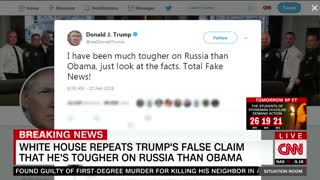 CNN's chyron fact checks Trumps subjective claim