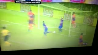 Neymar incredible goal vs Manchester City 4-0 - Video