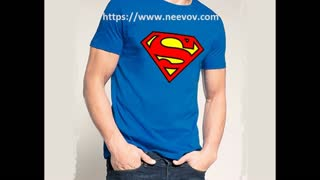Superman Design Printed Black Colour T Shirts - Video