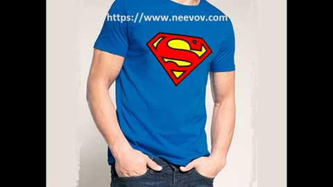 Superman Design Printed Black Colour T Shirts