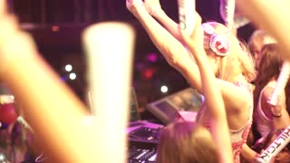Paris Hilton DJ's charity event in Ibiza - Video