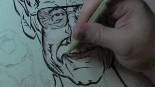 Time Lapse: Incredibly detailed portait of Stan Lee - Video