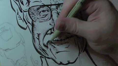 Time Lapse: Incredibly detailed portait of Stan Lee