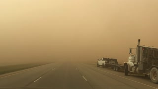 Driving Through a Dust Storm