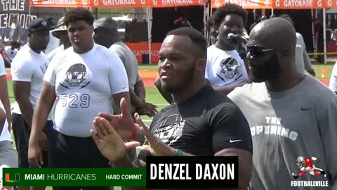 "Miami Hurricane Committ Denzel ""Suh"" Daxon Reppin The U"