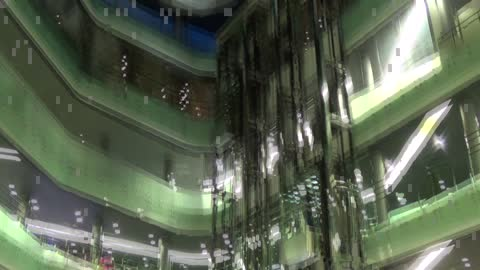 Glass Elevator System In The Mall