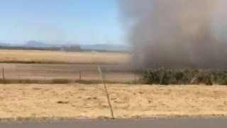 Passing by a dust devil