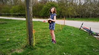 Omg shes likes it, electric fence arrives on the farm