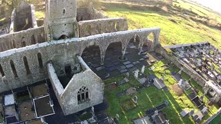 1st Drone View Of Medieval Franciscan abbey ireland - Video