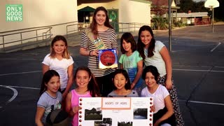Girl Scouts Sell Cookies and now Build Basketball Courts! - Video