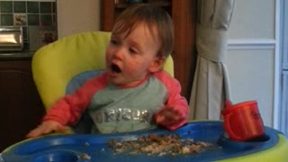 Baby Hannah learns how to say 'oh no'  - Video
