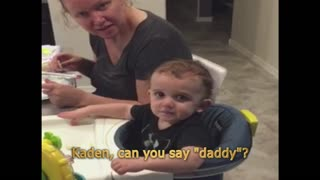 Baby Says Daddy In The Weirdest Way - Video