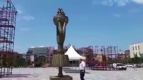 Albania - Scanderbeg Square still in transformation