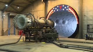 F-16 Jet Engine Test At Full Afterburner In The Hush House - Video