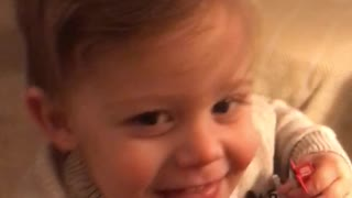 Toddler tickles - Video