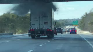 Truck Driver Miscalculates Vehicle Height, Pays The Price - Video