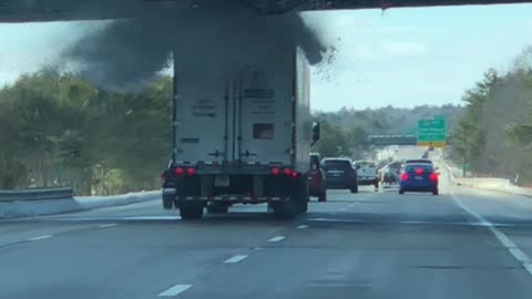 Truck Driver Miscalculates Vehicle Height, Pays The Price