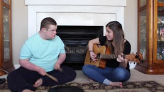 Something in The Water- Carrie Underwood (Cover: Duet with my brother who has Down Syndrome) - Video