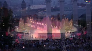Magic Fountain in Barcelona, Spain - Video