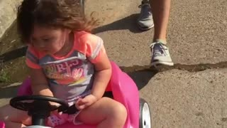 Collab copyright protection - little girl toy car falling asleep