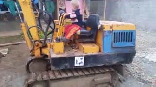 Albanian Baby boy drive big machines Like a Pro - Video