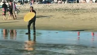 Drunk skim board fall everytime - Video
