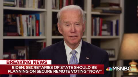 Joe Biden on what November elections could look like