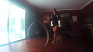 Is it possible to do yoga while hula hooping? - Video