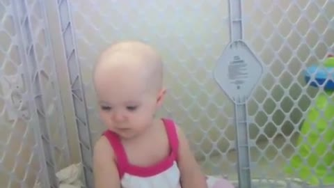 Baby has trouble repeating tongue twister