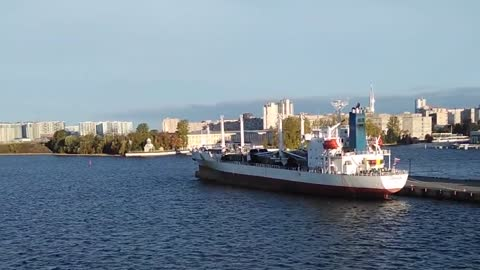 View Of The Marine Station In St. Petersburg