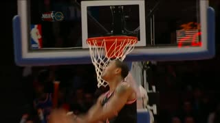 Derrick Rose's Double Clutch Dunk - Video