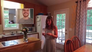 Husband Finds Out Wife Is Pregnant After Vasectomy, Stages A Huge Surprise - Video