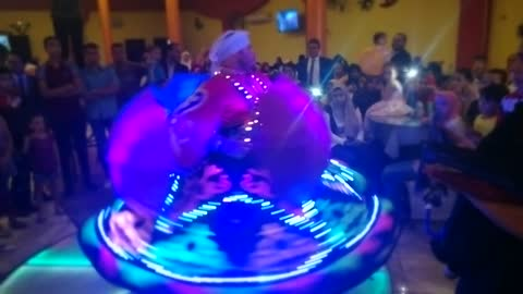 Magic Light Dancer performs In Wedding
