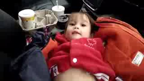 Why is this baby is so surprised! So Funny!