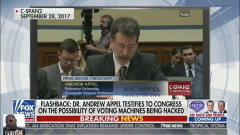 Dr. Andrew testifies to congress on voting machines