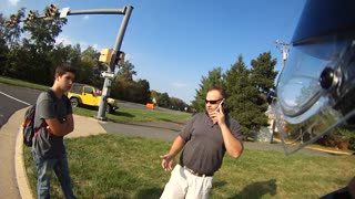 [USA] Jeep guy almost hits kid in crosswalk and loses his mind. - Video