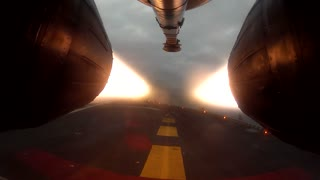 Afterburner camera captures stunning fighter jet takeoff - Video
