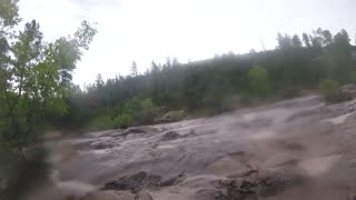 Water Wheel Falls Flash Flood - Video