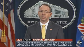 DOJ announces indictment of 13 Russians over election meddling - Video