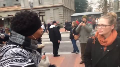 Anarchists Get Heckled By Black Guy Who Gets Called An Uncle Tom In Portland Oregon