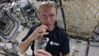 Watch how a cup of coffee is brewed in space!